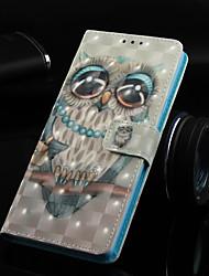 baratos -Capinha Para Huawei Huawei Honor 8X / Huawei Honor 8X Max Carteira / Porta-Cartão / Com Suporte Capa Proteção Completa Corujas Rígida PU Leather para Huawei Note 10 / Huawei Honor 10 / Huawei Honor 8X