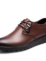 Недорогие -Муж. Официальная обувь Наппа Leather Зима Деловые / На каждый день Туфли на шнуровке Массаж Черный / Кофейный