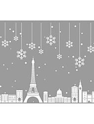 Недорогие -Декоративные наклейки на стены - Праздник стены стикеры Геометрия / Рождество Столовая / В помещении