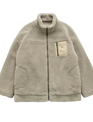 baratos -jaqueta de sair das mulheres - cor sólida