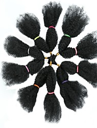 baratos -Cabelo para Trançar Encaracolado Tranças torção / Tranças Jumbo / Dreadlocks / Faux Locs Cabelo Sintético 10pçs Tranças de cabelo Preta 18 polegada 18 polegadas sintético / Venda imperdível / Perucas