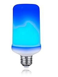 Недорогие -1шт 3 W 200 lm E26 / E27 LED лампы типа Корн T 99 Светодиодные бусины SMD 2835 Градиент цвета / Пламя мерцания Синий 85-265 V
