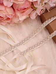 Недорогие -Сатин / тюль Свадьба / Особые случаи Кушак С Искусственный жемчуг Жен. Пояса и ленты