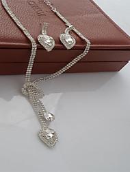 baratos -Mulheres Clássico Conjunto de jóias - Doce, Fashion, Elegante Incluir Colar Prata Para Casamento Festa