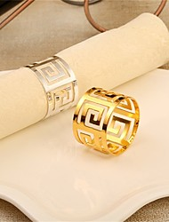 cheap -Contemporary Casual Stainless steel Round Napkin Ring Patterned Table Decorations 1 pcs