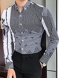 Недорогие -Муж. Рубашка Классический Полоски