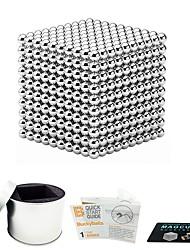 Недорогие -1000 pcs 5mm Магнитные игрушки Магнитные шарики Конструкторы Сильные магниты из редкоземельных металлов Неодимовый магнит Магнитный / Стресс и тревога помощи