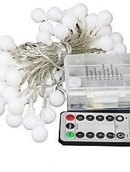 Недорогие -5 метров Гирлянды 50 светодиоды Мощный светодиод 1 пульт дистанционного управления Keys Тёплый белый / RGB Для вечеринок / Праздник / Свадьба Аккумуляторы AA 1 комплект