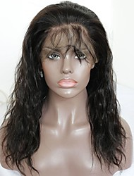 cheap -Virgin Human Hair Remy Human Hair Full Lace Wig Layered Haircut Middle Part Side Part style Brazilian Hair Wavy Wig 130% Density Soft Natural Natural Hairline African American Wig 100% Virgin Natural
