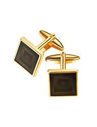Недорогие -Кубик Золотой Запонки Медь Формальная / Нарядная одежда Муж. Бижутерия Назначение Подарок / Официальные