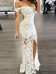 Недорогие -Жен. Секси Облегающий силуэт Платье С открытыми плечами Ассиметричное