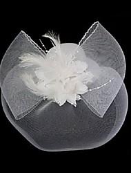 Недорогие -Сеть / Фланель Fascinators с Пух / Цветы 1 шт. Свадьба / Особые случаи Заставка