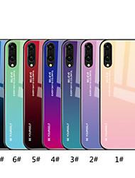 Недорогие -Кейс для Назначение Huawei P20 Pro / P20 lite Зеркальная поверхность / С узором Кейс на заднюю панель Градиент цвета Твердый Закаленное стекло для Huawei P20 / Huawei P20 Pro / Huawei P20 lite