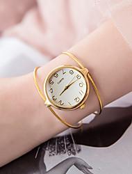 Недорогие -Жен. Часы-браслет Кварцевый Серебристый металл / Золотистый Повседневные часы Аналоговый Дамы Мода минималист - Серебряный Золотистый