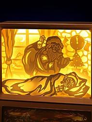 povoljno -1pc Djed Mraz 3D noćno svjetlo Toplo bijelo USB Kreativan / Ukras 5 V
