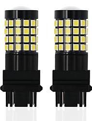 baratos -OTOLAMPARA 2pcs 3157 Carro Lâmpadas 28 W SMD 2835 2240 lm 52 LED luzes exteriores Para Volkswagen / Audi / Opel Polo / S4 / A4 2018 / 2015 / 2016
