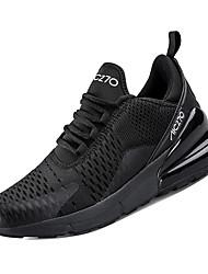 hesapli -Erkek Ayakkabı Elastik Kumaş / Tissage Volant Kış Sportif Atletik Ayakkabılar Koşu Atletik için Siyah / Siyah ve Beyaz / Siyah / Beyaz / Zıt Renkli