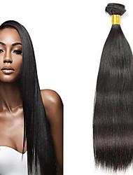 Χαμηλού Κόστους -6 πακέτα Μαλαισιανή Ίσιο Φυσικά μαλλιά / Χωρίς επεξεργασία Ανθρώπινη Τρίχα Δώρα / Υφάνσεις ανθρώπινα μαλλιών / Προέκταση 8-28 inch Φυσικό Χρώμα Υφάνσεις ανθρώπινα μαλλιών Μηχανοποίητο