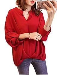abordables -Chemise grande taille en vrac pour femmes - col en V