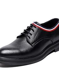 baratos -Homens Sapatos Confortáveis Couro Outono & inverno Oxfords Preto