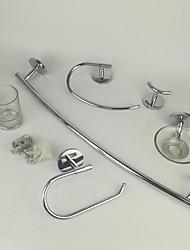 Недорогие -Набор аксессуаров для ванной Cool / Креатив Современный Сплав титана 6шт На стену