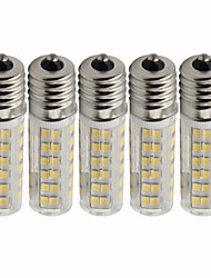 baratos -5pçs 4.5 W 450 lm E17 Lâmpadas Espiga T 76 Contas LED SMD 2835 Regulável Branco Quente / Branco Frio 220 V