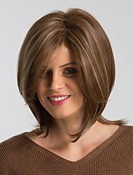 Недорогие -Парики из искусственных волос Естественный прямой Коричневый Стрижка боб Бежевый Искусственные волосы 12 дюймовый Жен. Модный дизайн / Новое поступление / Природные волосы Коричневый Парик
