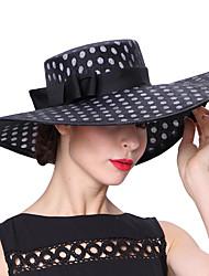 Недорогие -Elizabeth Чудесная миссис Мейзел Кентукки шляпа дерби шляпа Дамы Винтаж 1950-е года Жен. Черный Горошек Конструкция САР Лён / Хлопок костюмы