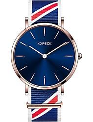 Недорогие -Kopeck Муж. Наручные часы электронные часы Японский Японский кварц Нейлон Черный / Серый / Небесно-голубой Защита от влаги Повседневные часы Аналоговый Мода Цветной - Черный Серый Синий