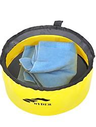 Недорогие -Походное складное ведро Корзина для белья 1 панель Легкость умывальник для ванной в комплекте Быстровысыхающий Другие материалы на открытом воздухе за Пешеходный туризм Походы Желтый