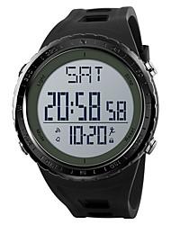 Недорогие -SKMEI Муж. Спортивные часы Армейские часы Цифровой Стеганная ПУ кожа Черный / Серый / Цвет клевера 50 m Будильник Календарь Секундомер Цифровой На каждый день Мода - Черный Серый Зеленый / Один год