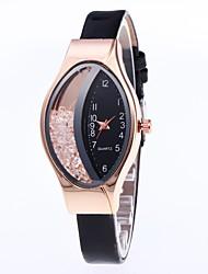 levne -Dámské Náramkové hodinky Digitální hodinky Křemenný Kůže Černá / Bílá / Modrá Hodinky na běžné nošení Půvab Analogové Na běžné nošení Módní - Fialová Fuchsiová Červená