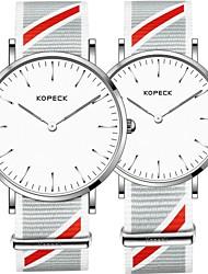 Недорогие -Kopeck Для пары Наручные часы электронные часы Японский Японский кварц Нейлон Черный / Серый / Небесно-голубой 30 m Защита от влаги Повседневные часы Аналоговый На каждый день минималист -