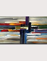 voordelige -Hang-geschilderd olieverfschilderij Handgeschilderde - Abstract Modern Zonder Inner Frame