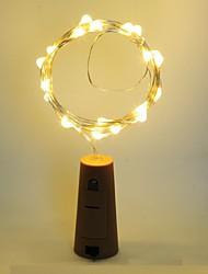 billige -1pc Vinflaske Stopper LED Night Light Varm hvit Dekorasjon / Atmosfære Lampe
