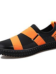 9a3f94f46 Homens Sapatos Confortáveis Couro Ecológico   Tecido elástico Inverno  Casual Mocassins e Slip-Ons Não escorregar Estampa Colorida Preto   Laranja  e Preto