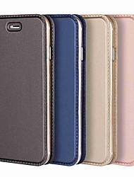 Недорогие -Кейс для Назначение Apple iPhone XS / iPhone XR / iPhone XS Max Бумажник для карт / Защита от удара / со стендом Чехол Однотонный Твердый Кожа PU