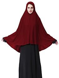 Недорогие -Жен. Классический Хиджаб - Перекрещивание Однотонный