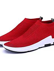 hesapli -Erkek Ayakkabı Örümcek Ağı Bahar Günlük Atletik Ayakkabılar Günlük için Siyah / Koyu Gri / Kırmzı