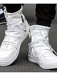 abordables -Homme Chaussures de confort Microfibre Printemps & Automne Basket Blanc / Noir