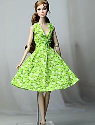 Giocattolo Ragazza Abito Non Intrecciato In Cotone Bambola Vestito Verde Vestiti Mela Per Barbiedoll 13lK5uTFJc