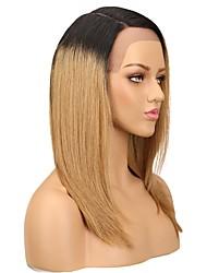 preiswerte -Cabello Natural Remy 360 Frontal Perücke Asymmetrischer Haarschnitt Seitenteil Stil Brasilianisches Haar Silky Glatt Braun Perücke 130% Haardichte Natürlich neu Komfortabel 100% Jungfrau Färbung Braun