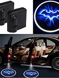 Недорогие -2шт беспроводная дверь автомобиля привело лазерный проектор тень света автомобиль-стиль автомобиля интерьер лампа свет