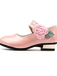 Недорогие -Девочки Обувь Полиуретан Весна & осень Детская праздничная обувь Обувь на каблуках Цветы для Дети / Для подростков Черный / Красный / Розовый