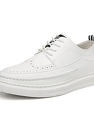 cheap -Men's Comfort Shoes Microfiber Spring &  Fall Sneakers White / Black