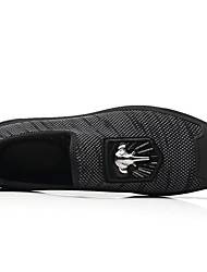 baratos -Homens Sapatos Confortáveis Lona Primavera & Outono Tênis Preto