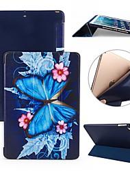 Недорогие -Кейс для Назначение Apple iPad (2018) / iPad Pro 11'' Защита от удара / Флип / Ультратонкий Чехол Бабочка Мягкий Силикон для iPad Air / iPad 4/3/2 / iPad Mini 3/2/1