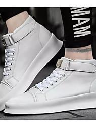 hesapli -Erkek Ayakkabı Mikrofiber İlkbahar & Kış Spor Ayakkabısı Günlük / Dış mekan için Beyaz / Siyah / Kırmzı