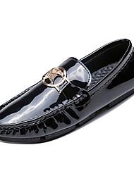hesapli -Erkek Ayakkabı PU Kış Günlük Mokasen & Bağcıksız Ayakkabılar Günlük için Altın / Siyah