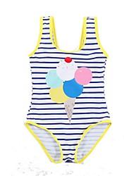 お買い得  -幼児 女の子 日常 ソリッド ポリエステル 水着 ブルー